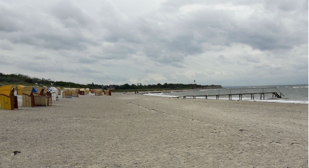 Steilkueste mit Strandkoerben