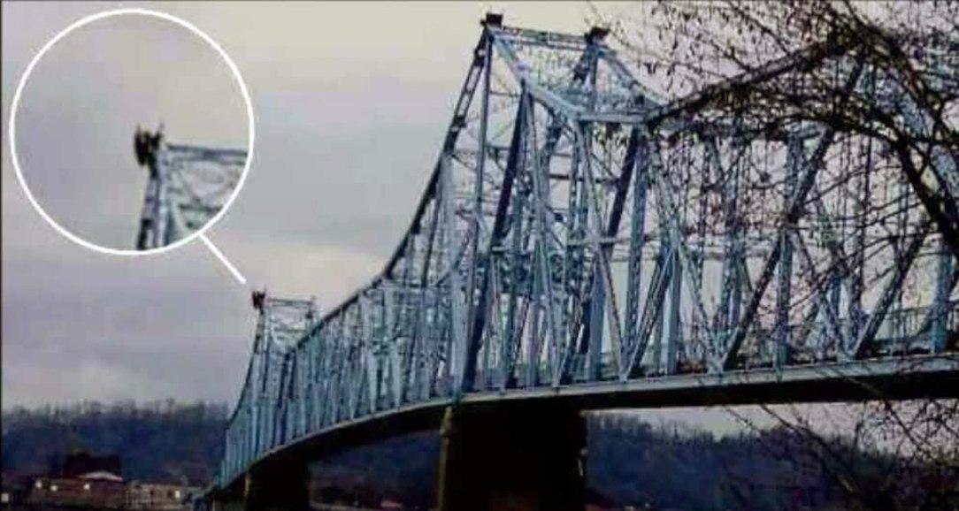 mothman on bridge