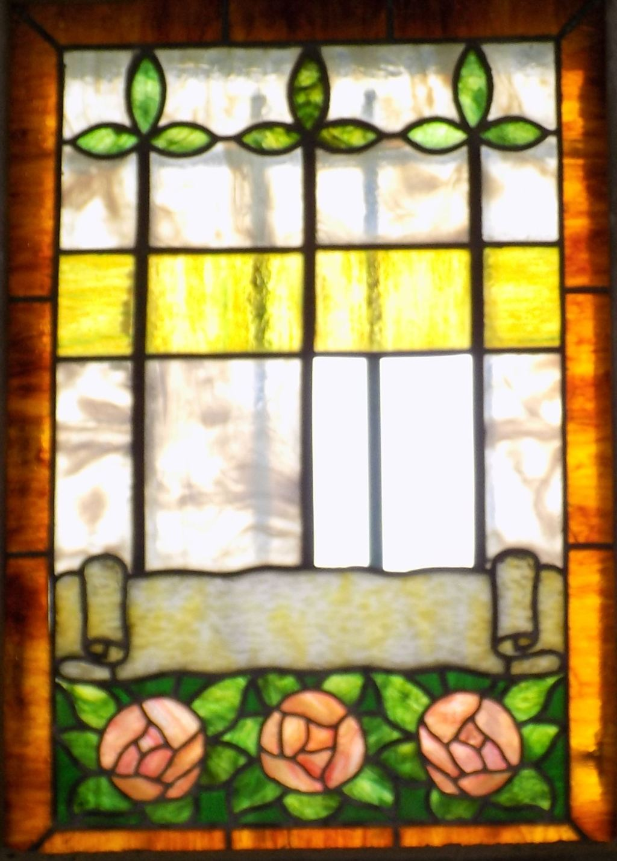 Clark mausoleum window