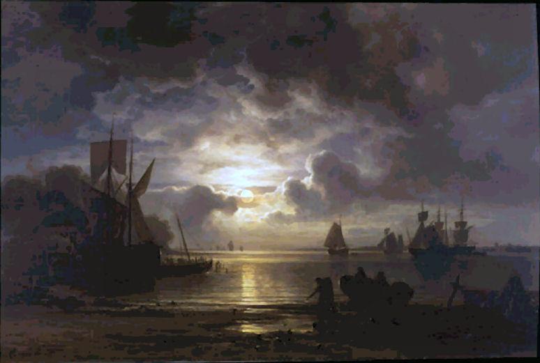 Chr._Morgenstern_-_Mondaufgang_über_der_Elbe