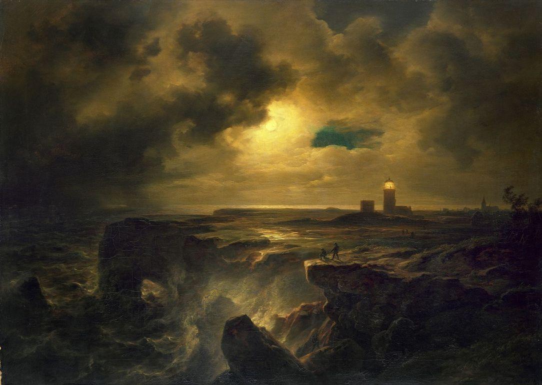 Christian_Morgenstern_-_Helgoland_im_Mondlicht_(1851)