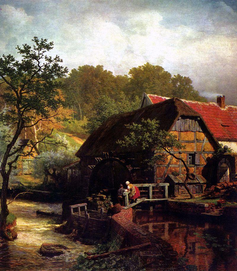 Westfälische Wassermühle, 1863