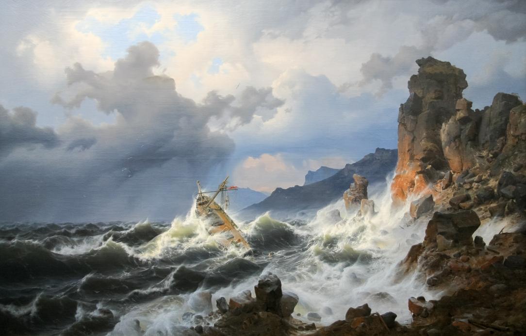Andreas_Achenbach-Ein_Seesturm_an_der_norwegischen_Küste