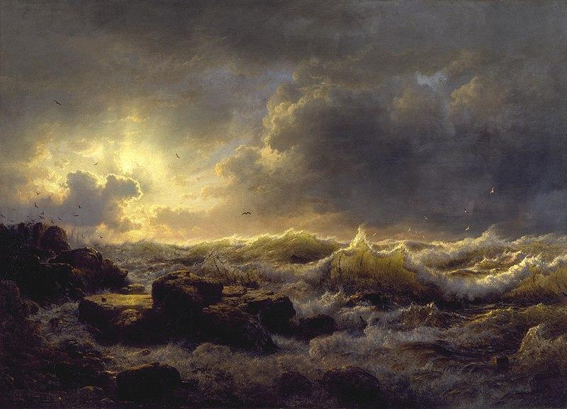Aufräumen Küste von Sizilien 1847