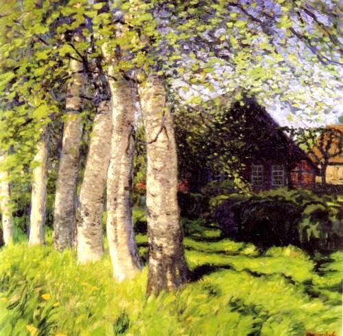 Hans_am_Ende Fruehling in Worpswede 1900