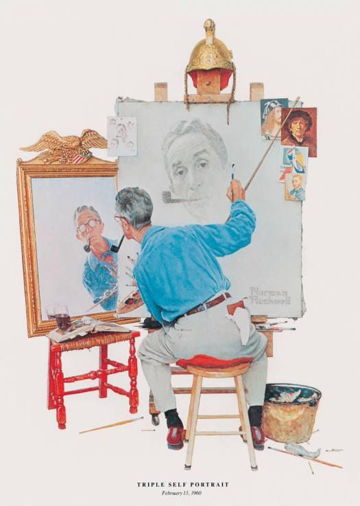 rockwell triple self portrait freatured