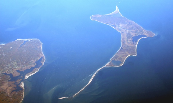 aerial view island