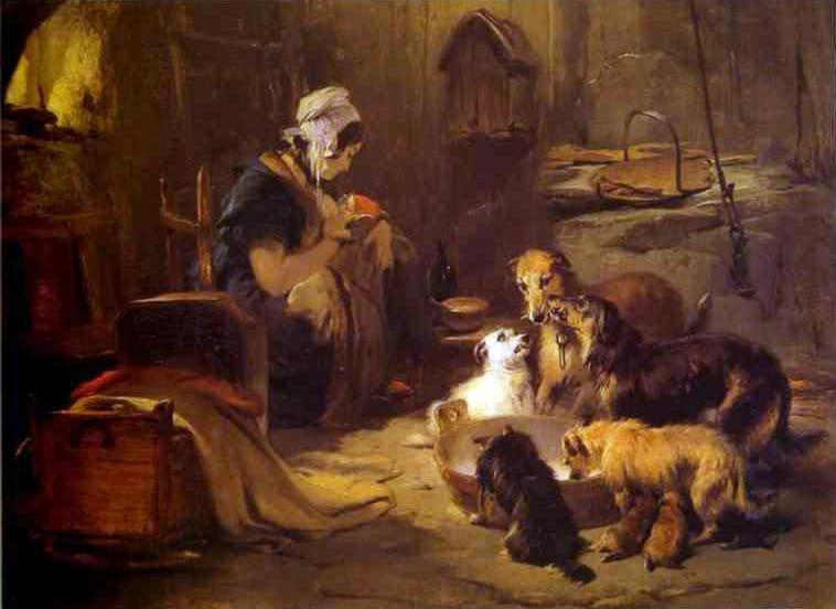 Edwin_Landseer-_A_Highland_Breakfast