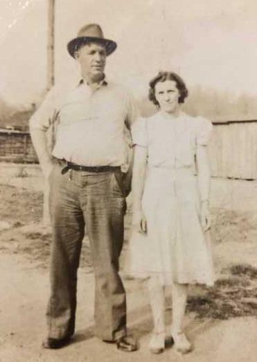 Grandma and Grandpa Christman