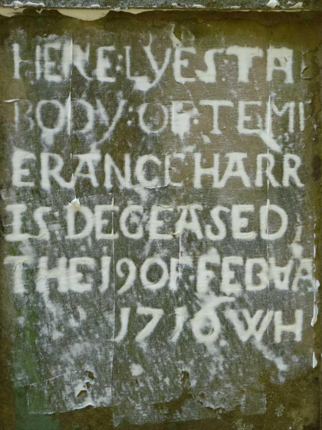 headstone temperance