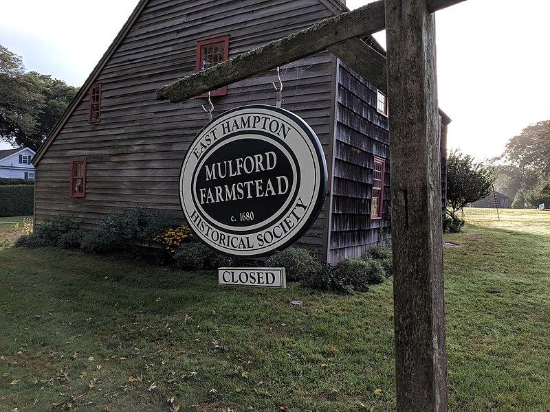 Mulford Farmstead sign