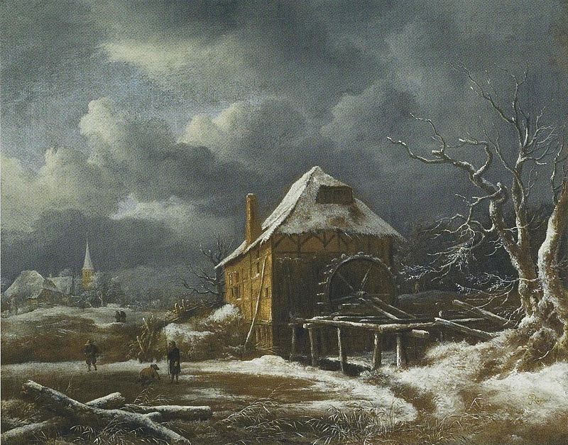 Jacob_van_Ruisdael_-_Winter_Landscape_with_a_Watermill