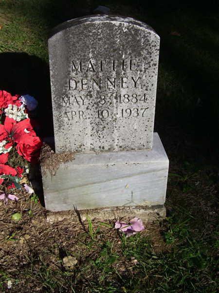 grave marker Mattie Mulford