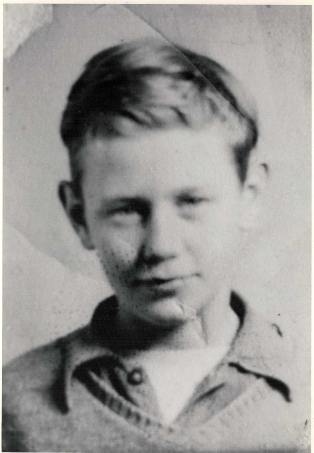 Donald E Denney as a boy