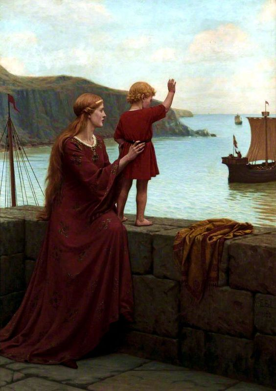 Edmund Blair Leighton - Farewell 1922