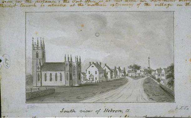 postcard Hebron CT