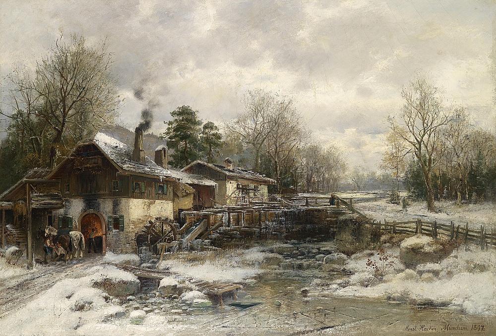 Horst Hacker - Schmiede im Winter