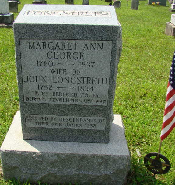 margaret Longstreth 1837 new marker
