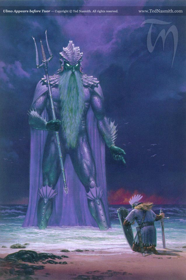 Ulmo Appears before Tuor, by Ted Nasmith