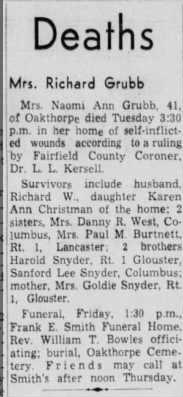 obituary naomi