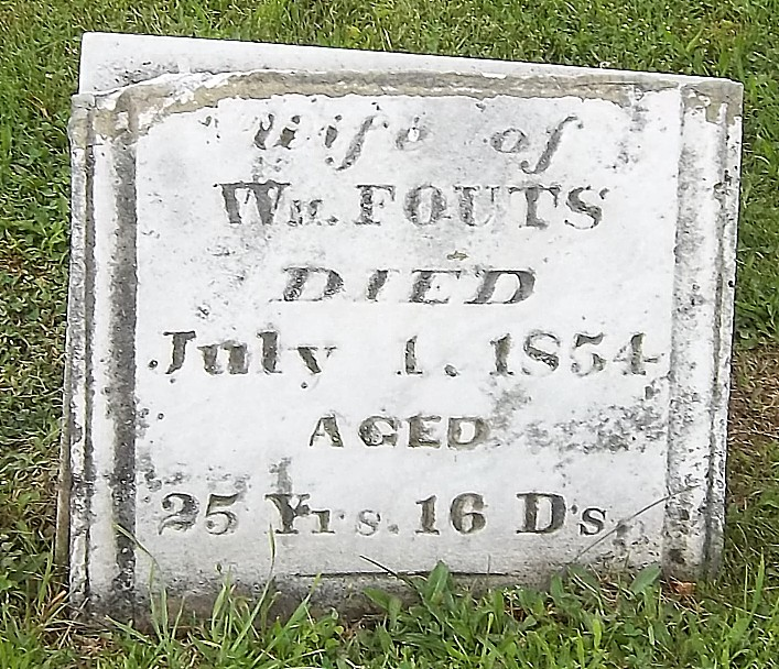 leitha fouts grave marker